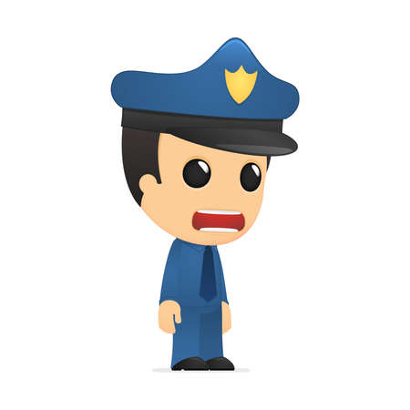 funny cartoon policeman Stock Vector - 13889770