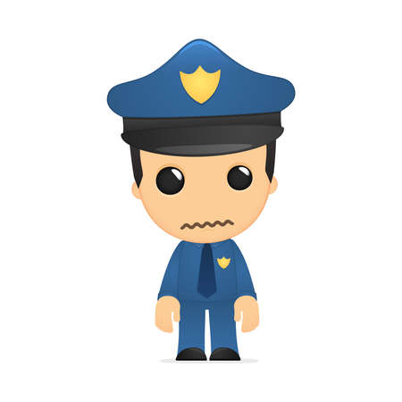 funny cartoon policeman Stock Vector - 13889759