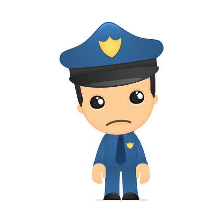 cops: funny cartoon policeman