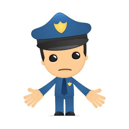 funny cartoon policeman Stock Vector - 13889740