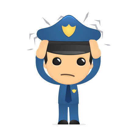 funny cartoon policeman Stock Vector - 13889833