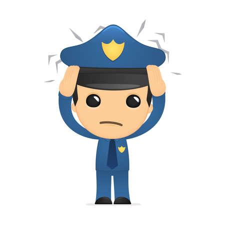 grappige cartoon politieman