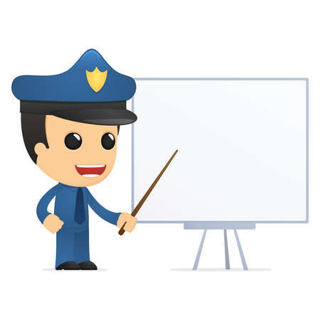 funny cartoon policeman Stock Vector - 13889975