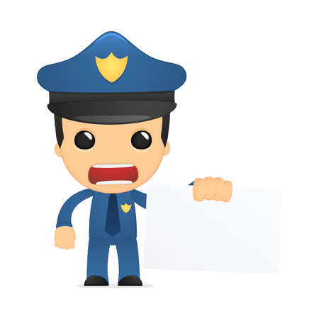 funny cartoon policeman Stock Vector - 13889910