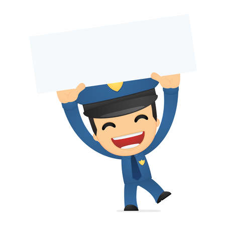 funny cartoon policeman Stock Vector - 13889830