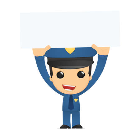 funny cartoon policeman Stock Vector - 13889905
