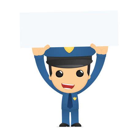 funny cartoon policeman Stock Vector - 13889905