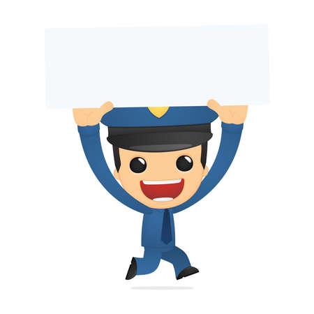 funny cartoon policeman Vector