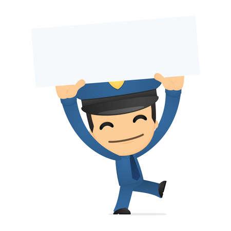 funny cartoon policeman Stock Vector - 13889707
