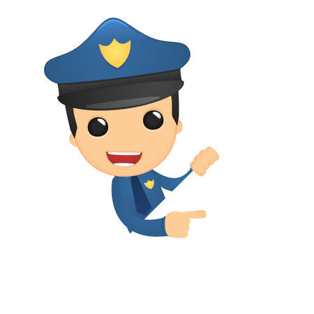 funny cartoon policeman Stock Vector - 13889723