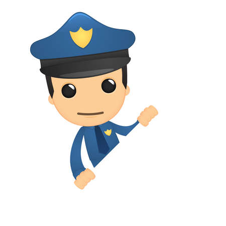 funny cartoon policeman Stock Vector - 13889700