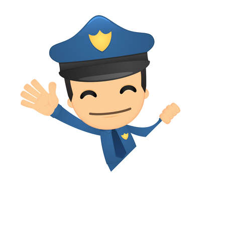 funny cartoon policeman Stock Vector - 13889690