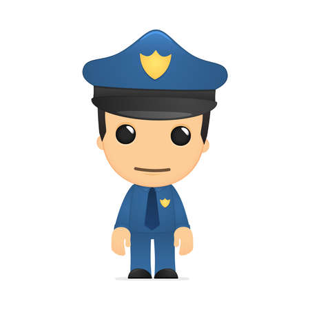 funny cartoon policeman Stock Vector - 13889705