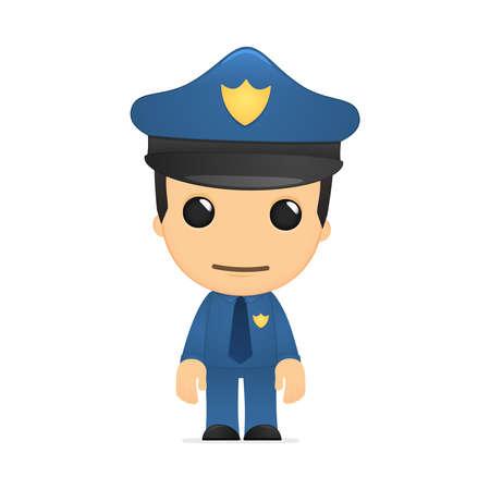 funny cartoon policeman Stock Vector - 13889705