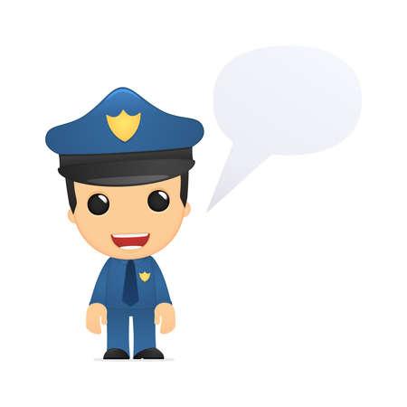 lustigen Comic-Polizist Vektorgrafik