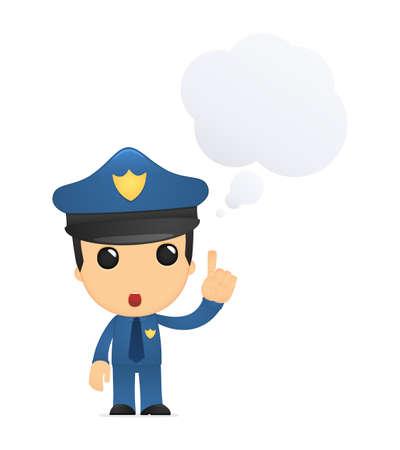 crime solving: funny cartoon policeman