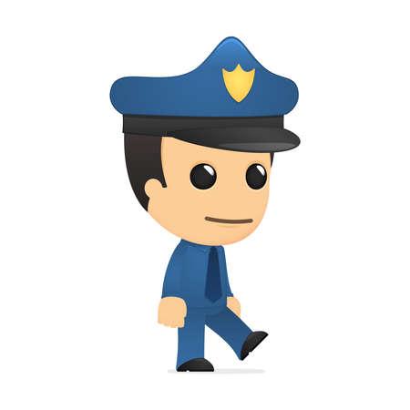 cartoon police officer: funny cartoon policeman