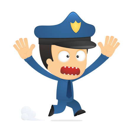 funny cartoon policeman Stock Vector - 13889857