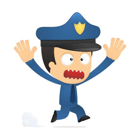 funny cartoon policeman Stock Vector - 13889857