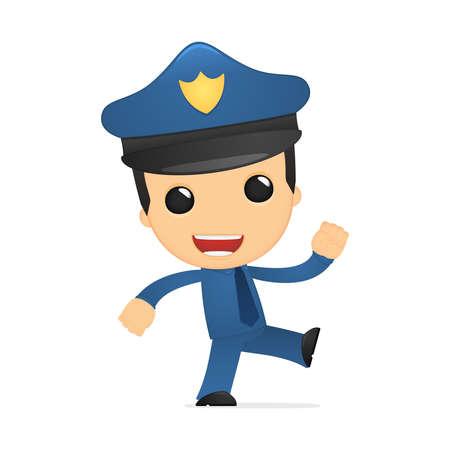 funny cartoon policeman Stock Vector - 13889858