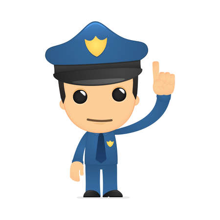 funny cartoon policeman Stock Vector - 13889773