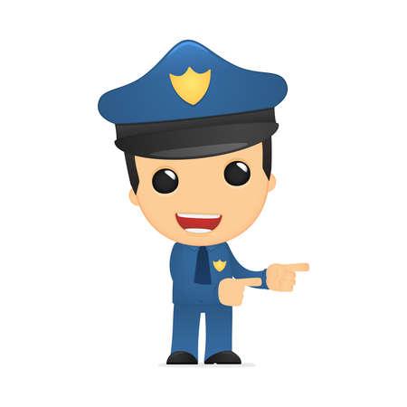 police arrest: funny cartoon policeman