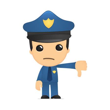 funny cartoon policeman Stock Vector - 13889739