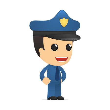 funny cartoon policeman Stock Vector - 13889766