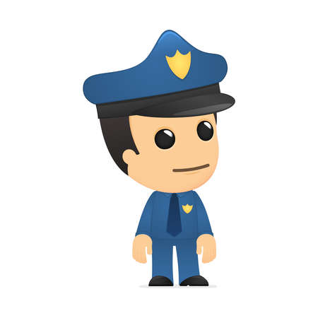 security officer: funny cartoon policeman