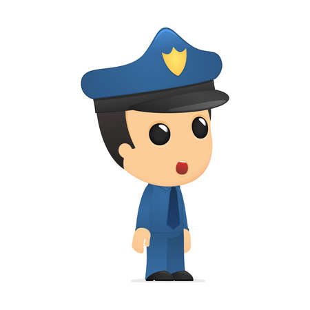 funny cartoon policeman Stock Vector - 13889724