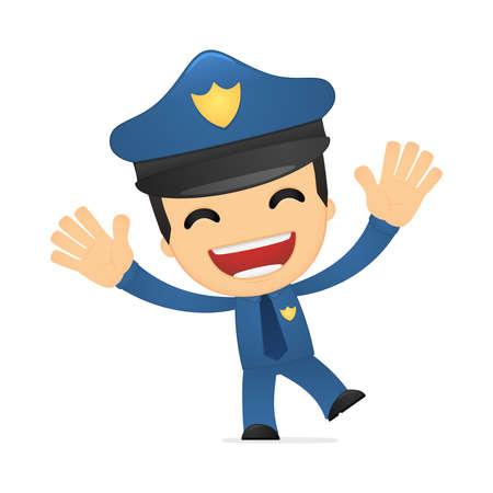 policia caricatura: policía de divertidos dibujos animados