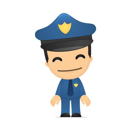 grappige cartoon politieagent