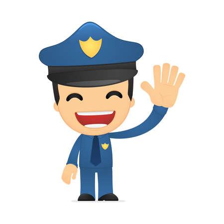 joking: funny cartoon policeman