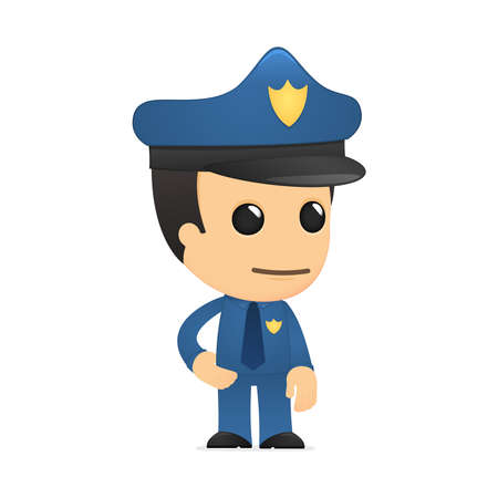 funny cartoon policeman Stock Vector - 13889728
