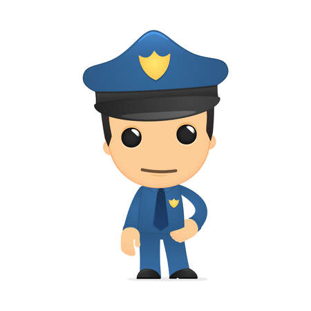 funny cartoon policeman Stock Vector - 13889769