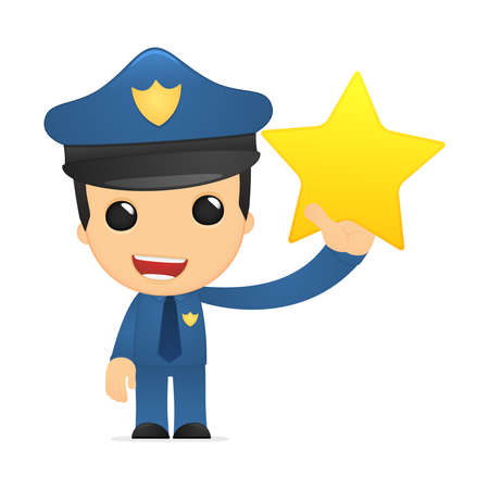 funny cartoon policeman Stock Vector - 13889926