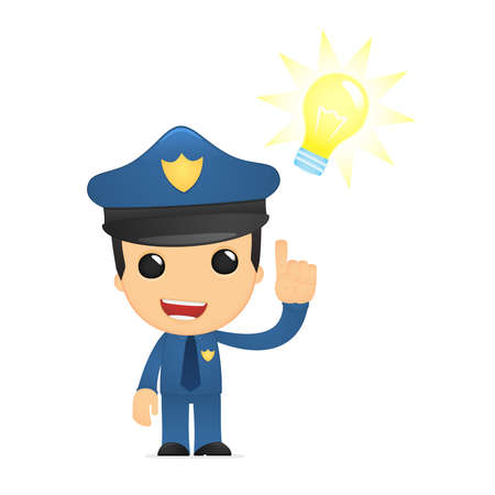 funny cartoon policeman Stock Vector - 13890042