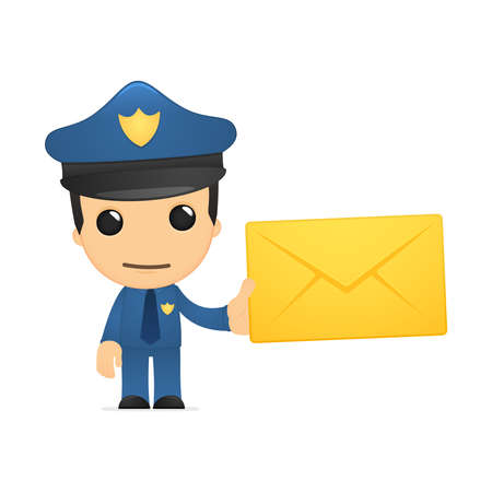 work safe: funny cartoon policeman