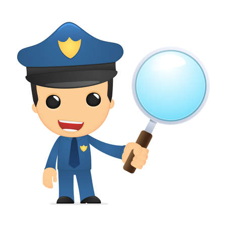 funny cartoon policeman Stock Vector - 13890082