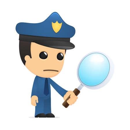 funny cartoon policeman Stock Vector - 13890034