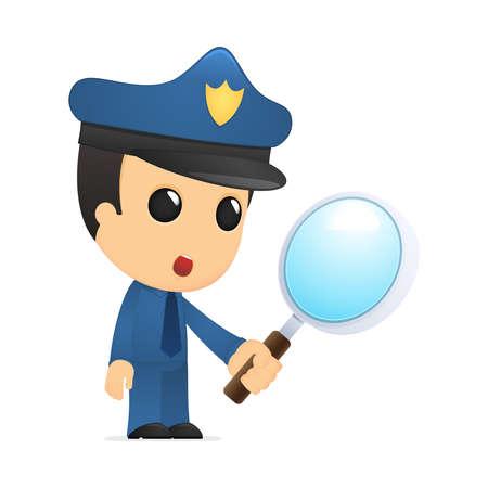 gorra polic�a: polic�a de divertidos dibujos animados