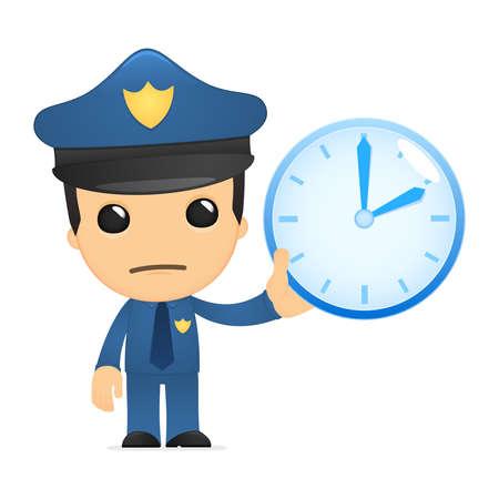 funny cartoon policeman Stock Vector - 13889953