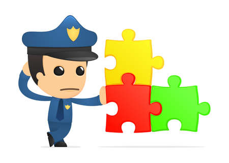 funny cartoon policeman Stock Vector - 13889995