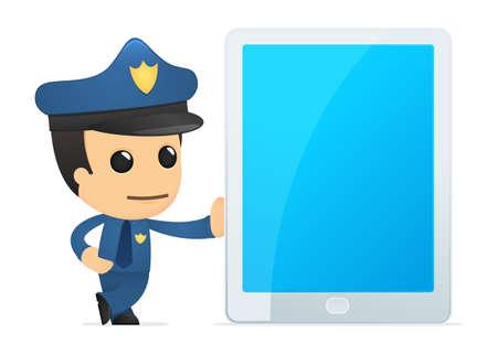 netbooks: funny cartoon policeman
