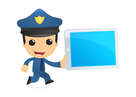 funny cartoon policeman Stock Vector - 13890005