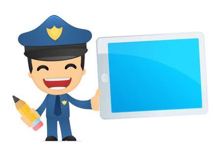 funny cartoon policeman Stock Vector - 13890080