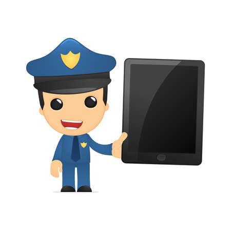 gorra policía: policía divertido de la historieta Vectores