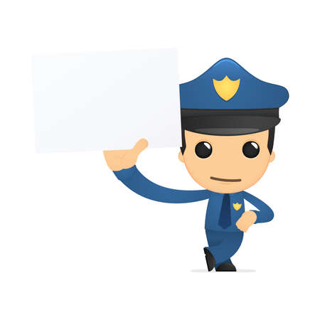 funny cartoon policeman Stock Vector - 13889877