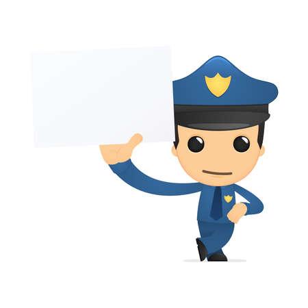funny cartoon policeman Stock Vector - 13889877