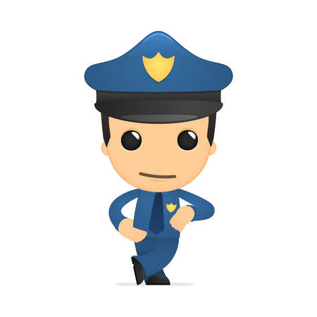 funny cartoon policeman Stock Vector - 13889822